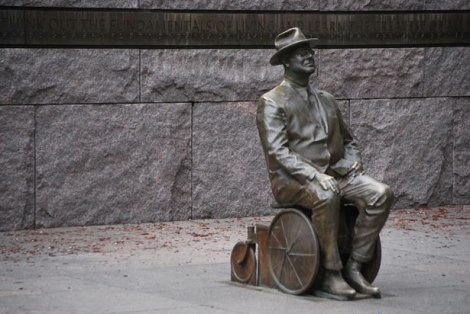 Statue of Franklin Delano Roosevelt 32nd president of USA.