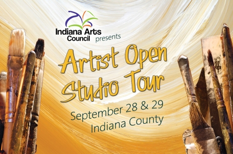Indiana Arts Council presents Artist Open Studio Tour Sept 28 & 29, 2013. Indiana County, PA.