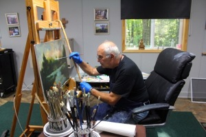 Tony DeFurio in his studio